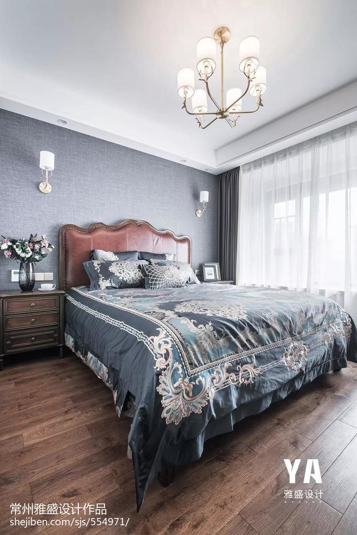质朴124平美式三居卧室实拍图