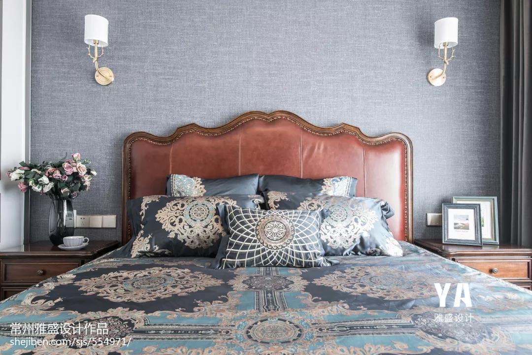 温馨99平美式三居卧室图片欣赏