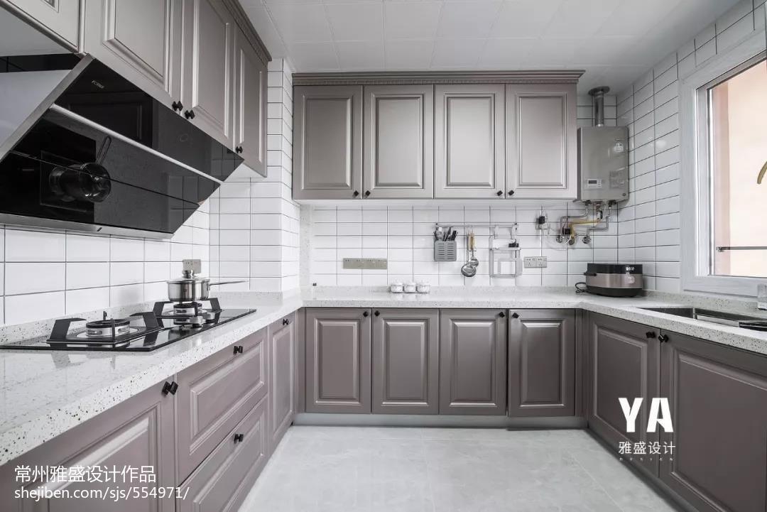 明亮108平美式三居厨房设计案例