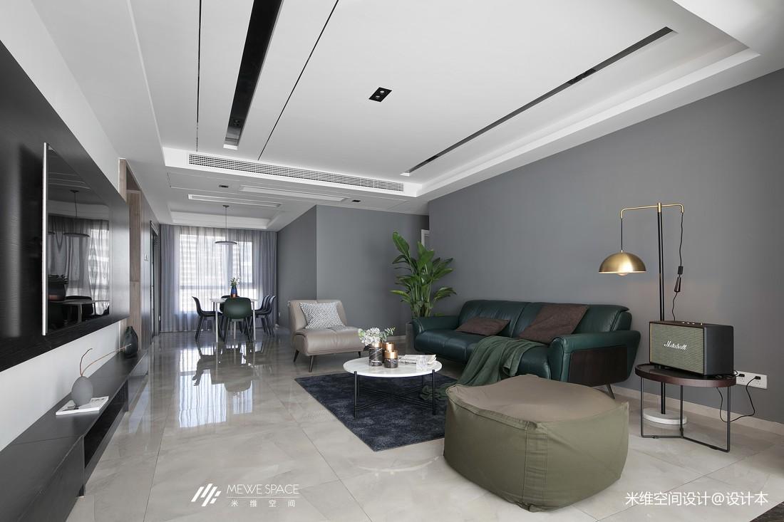 冰川灰现代客厅吊顶设计
