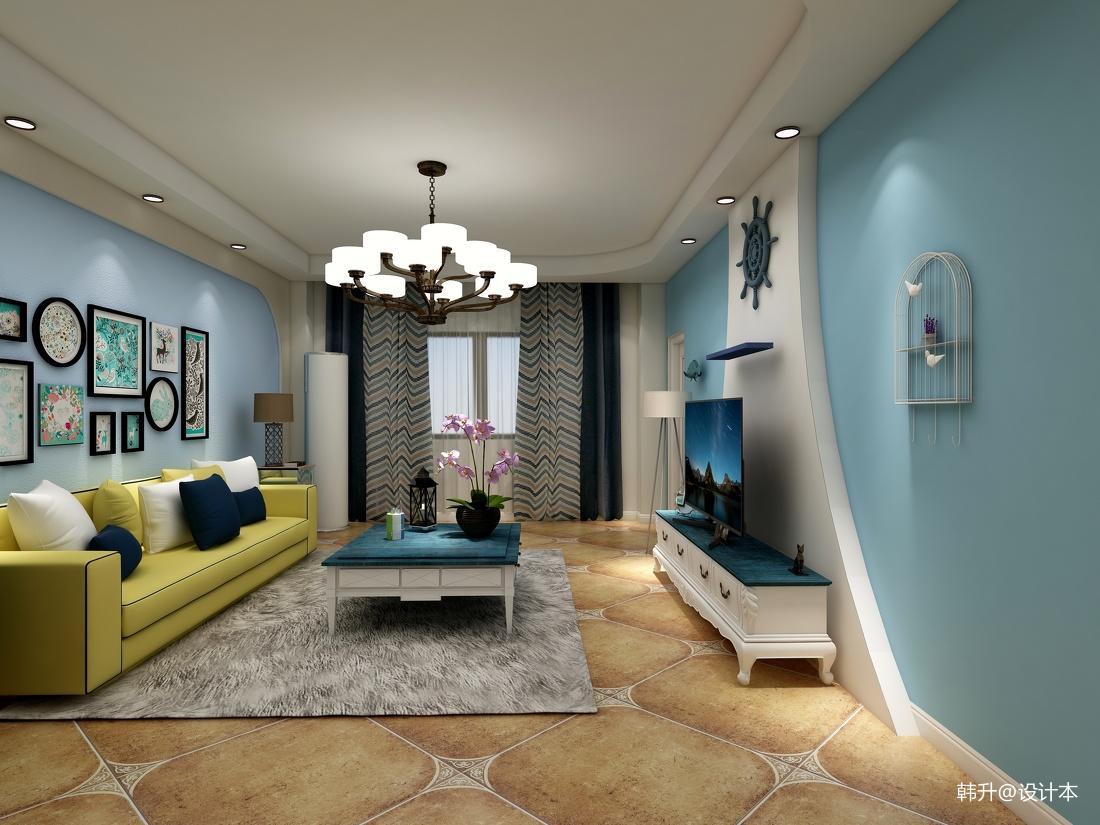 地中海风格小客厅装修图