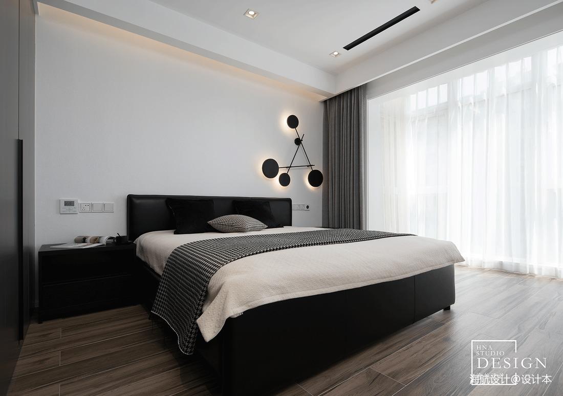 黑白极简卧室设计图