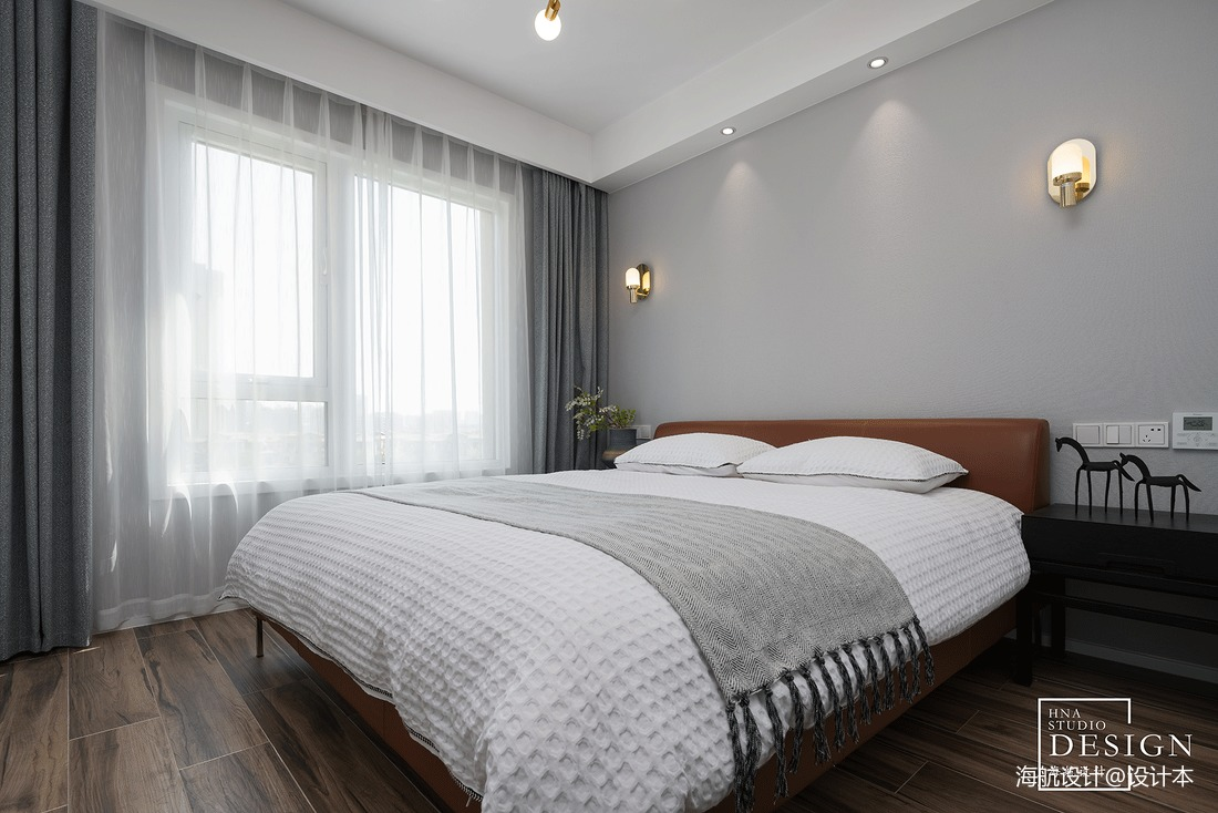 黑白极简卧室设计