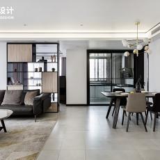 热门103平米三居餐厅现代装修图