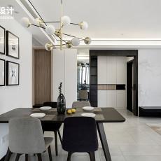 热门面积91平现代三居餐厅实景图