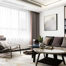 109平方三居客厅现代装修效果图片