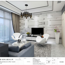 114平米现代复式客厅效果图片欣赏