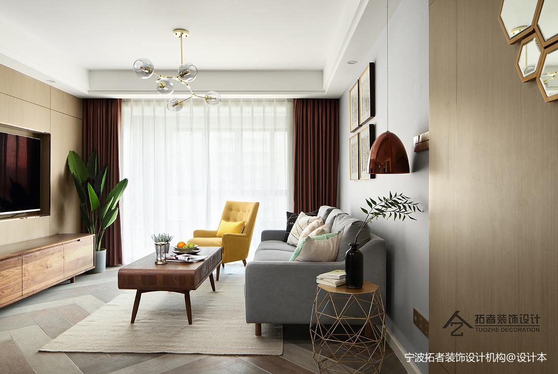 简洁55平北欧二居客厅装修图