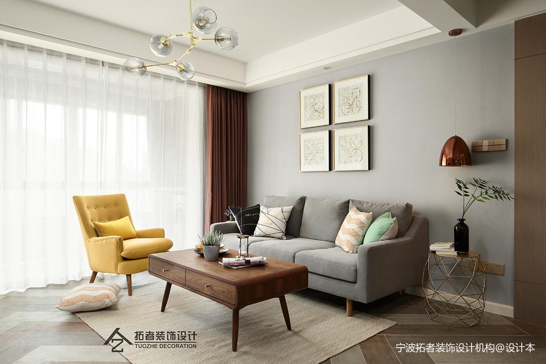 优美85平北欧二居客厅装潢图