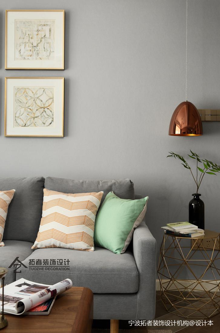 明亮60平北欧二居客厅装修美图