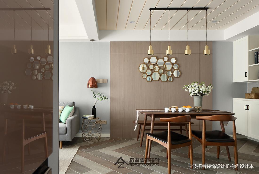 优雅77平北欧二居餐厅装饰图片