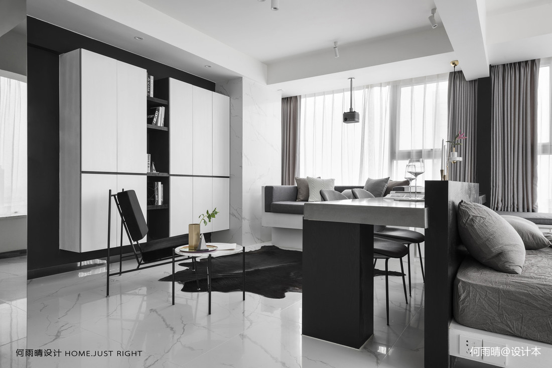 現代小戶型客廳儲物柜設計