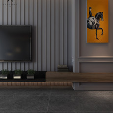 面积86平现代二居客厅装修实景图片欣赏