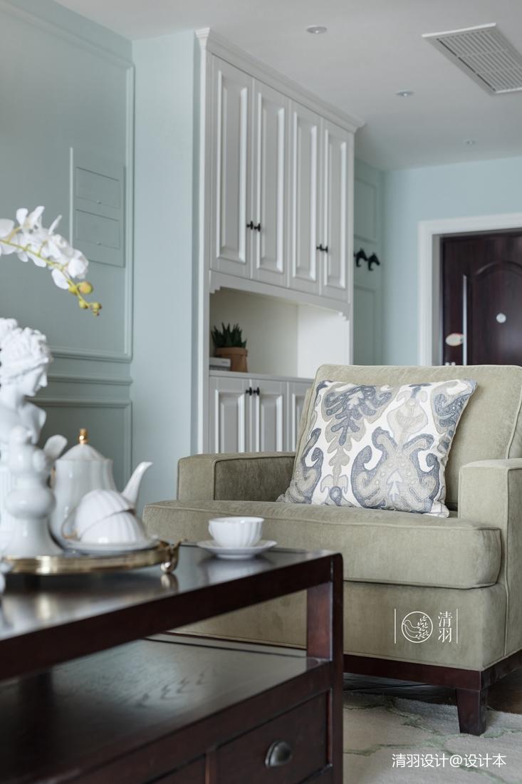 轻奢123平混搭三居客厅装修装饰图