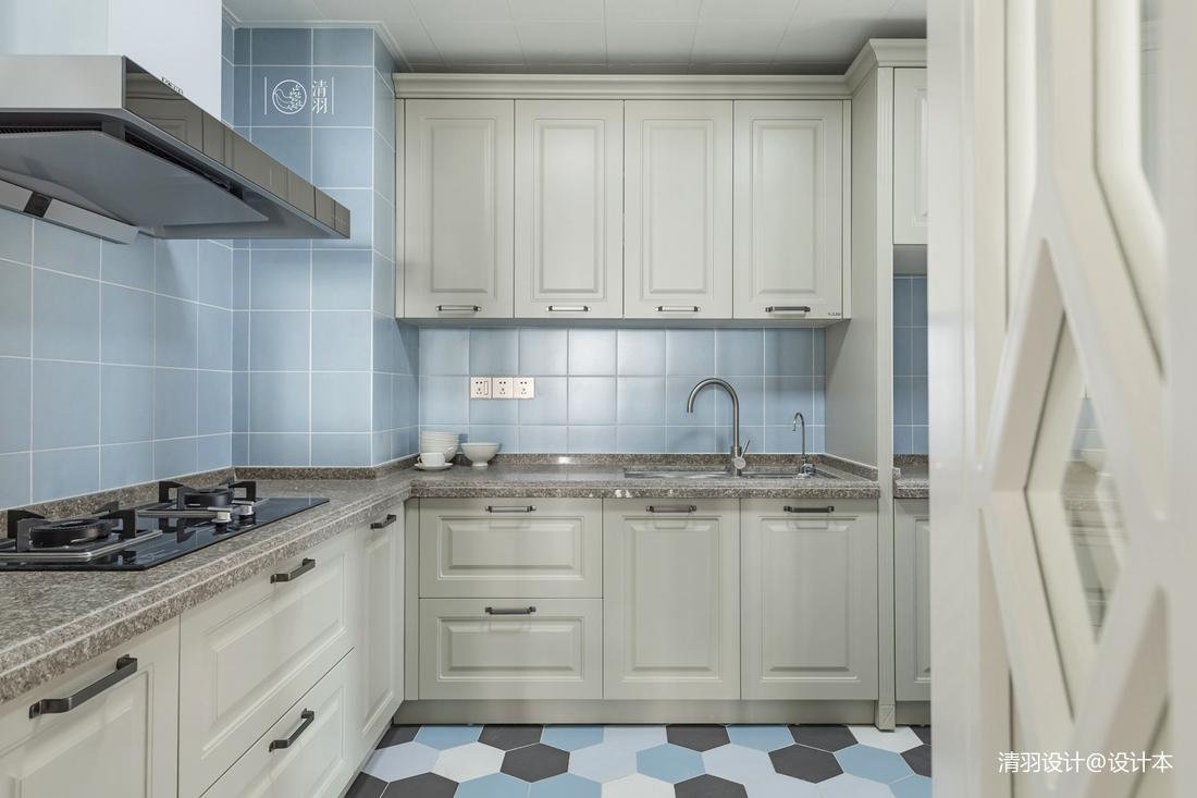 优雅92平混搭三居厨房装修设计图