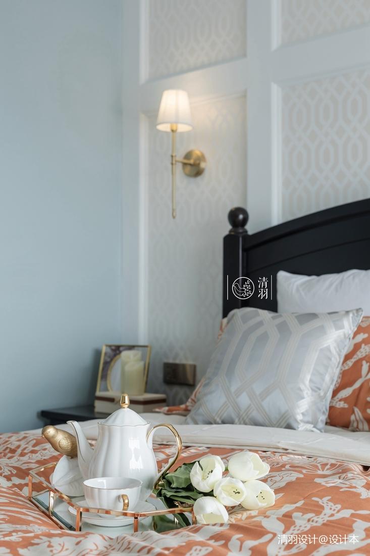 简洁79平混搭三居卧室装饰图片