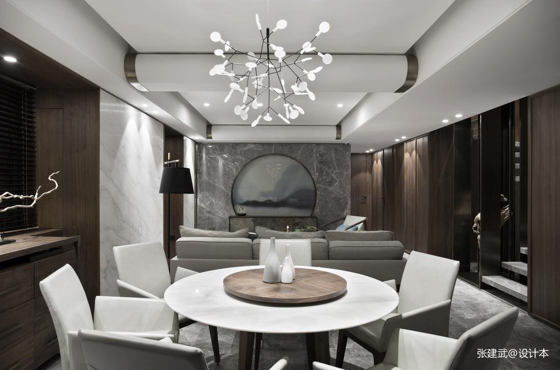 大气86平中式二居餐厅装饰美图