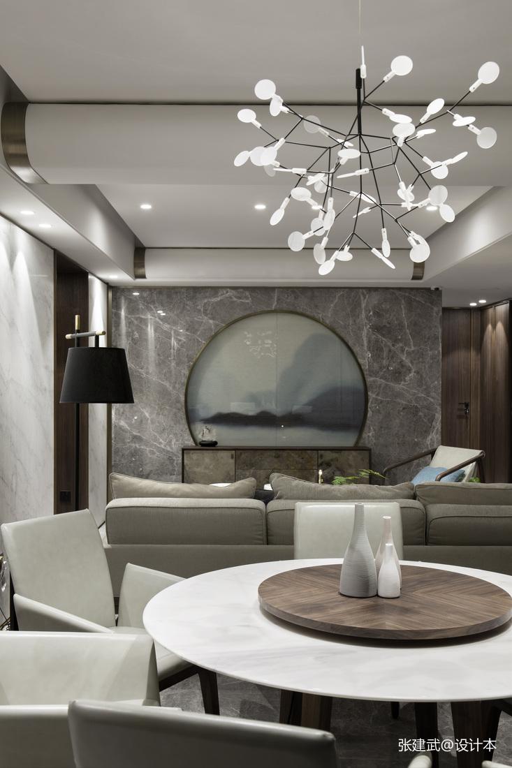 轻奢72平中式二居餐厅图片欣赏