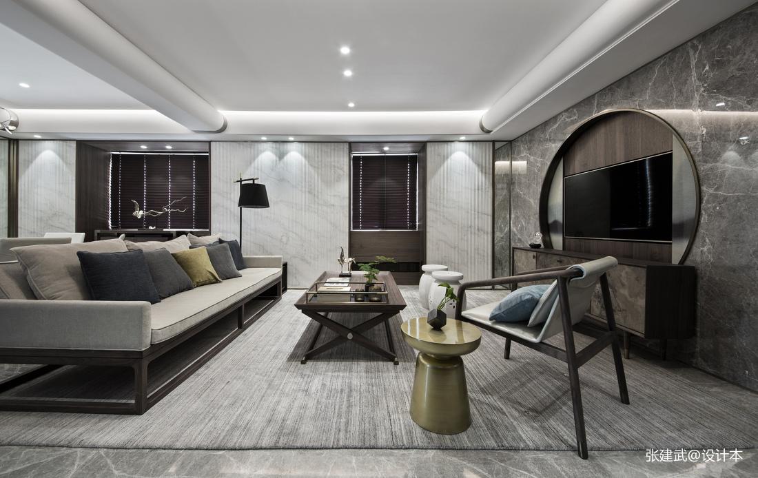 优美64平中式二居客厅装修图片