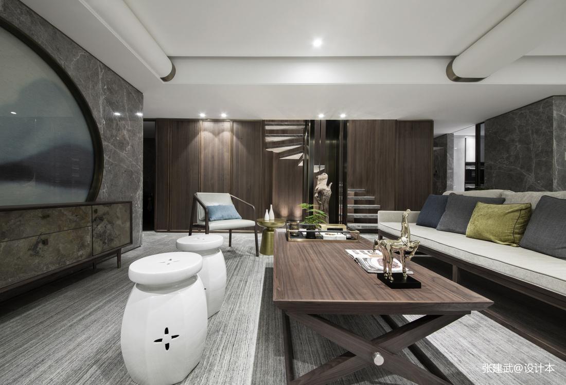 优雅190平中式二居客厅设计图