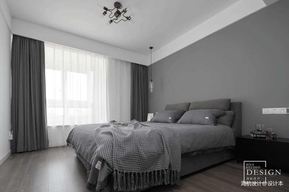 loft风灰色调卧室设计图