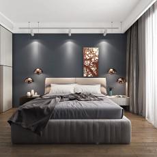 热门108平米三居卧室现代装修欣赏图片大全