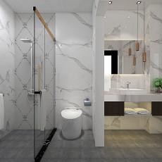 热门99平米三居卫生间现代装修实景图