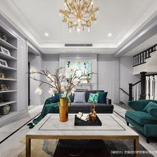 精致664平美式别墅客厅实景图片
