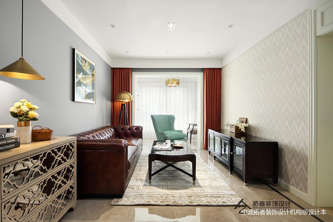 浪漫115平美式三居客厅效果图欣赏