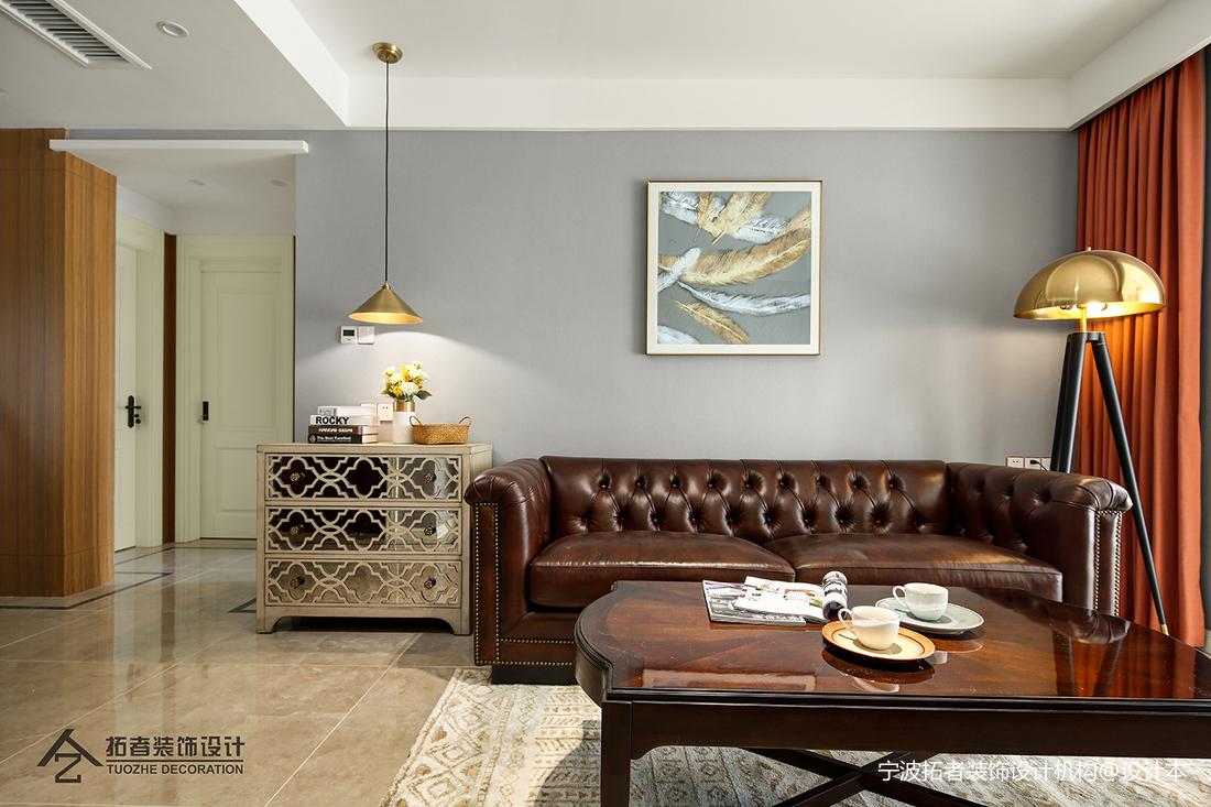 华丽76平美式三居客厅设计案例