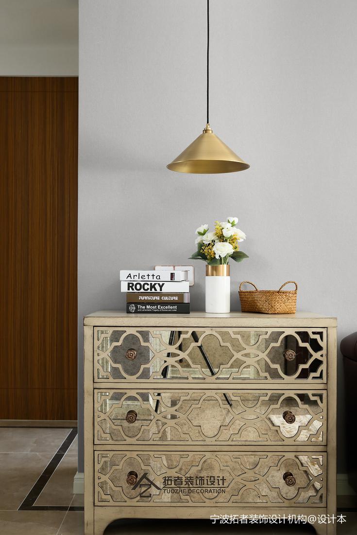 简洁78平美式三居客厅装修案例