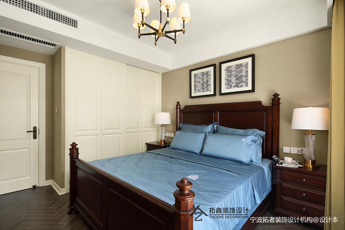 典雅107平美式三居卧室装修图片