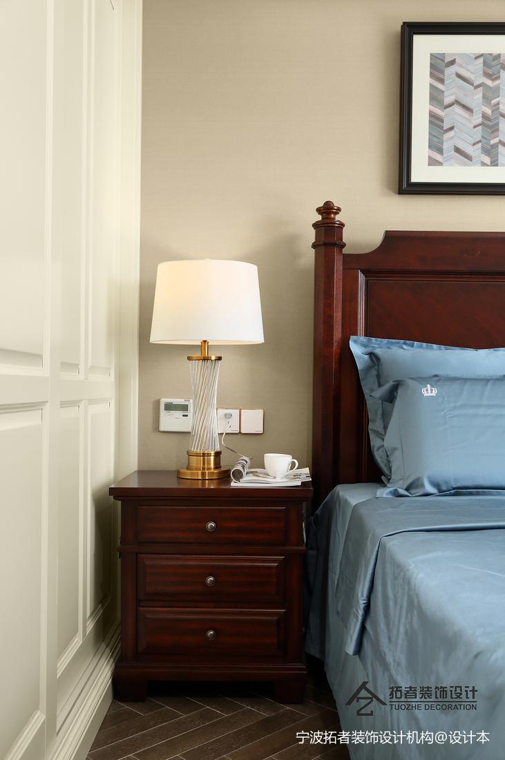 精美88平美式三居卧室布置图