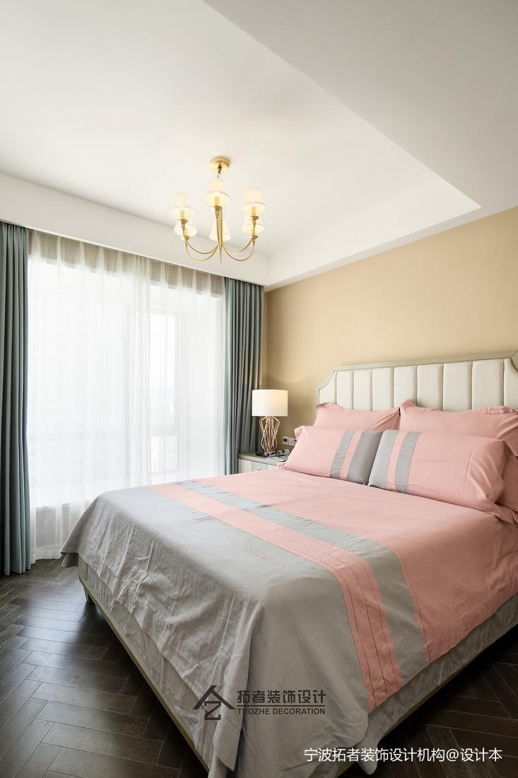 典雅123平美式三居卧室美图