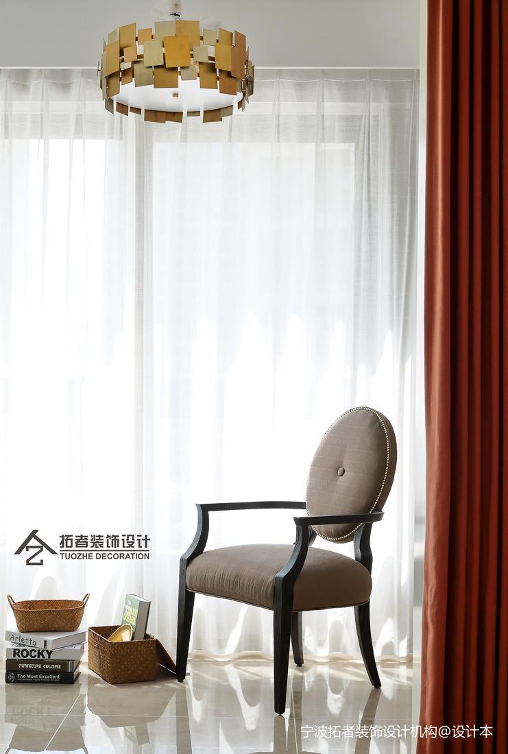 大氣118平美式三居陽臺裝飾美圖