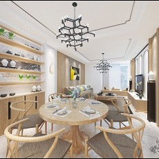 精美面积98平中式三居餐厅欣赏图片