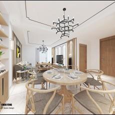大小93平中式三居餐厅实景图片欣赏