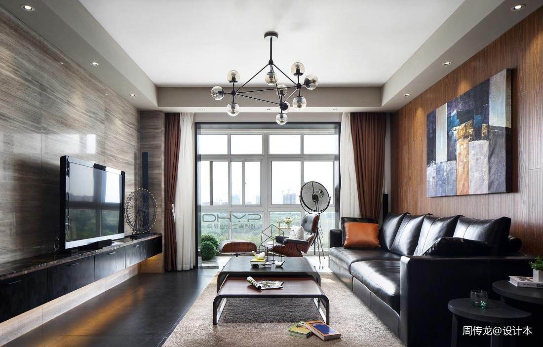 质朴150平混搭三居客厅装修效果图