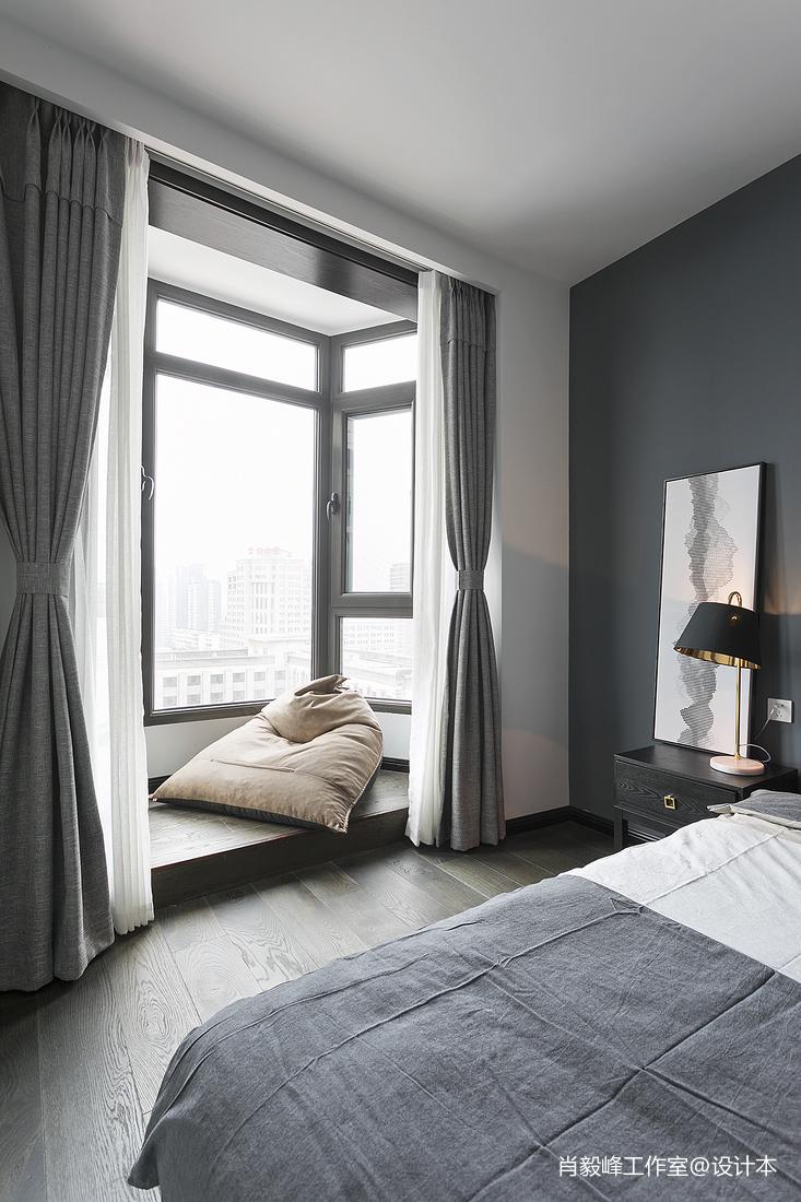 現代質感臥室飄窗設計圖