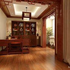 热门别墅书房中式装修实景图