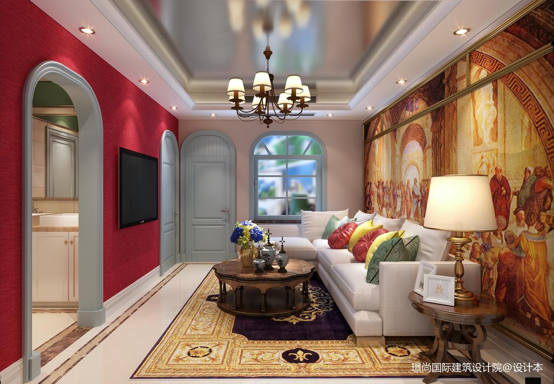 乡村田园风格二居室装修设计效果图片