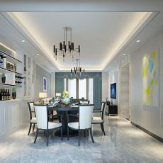 热门面积90平简欧三居餐厅设计效果图