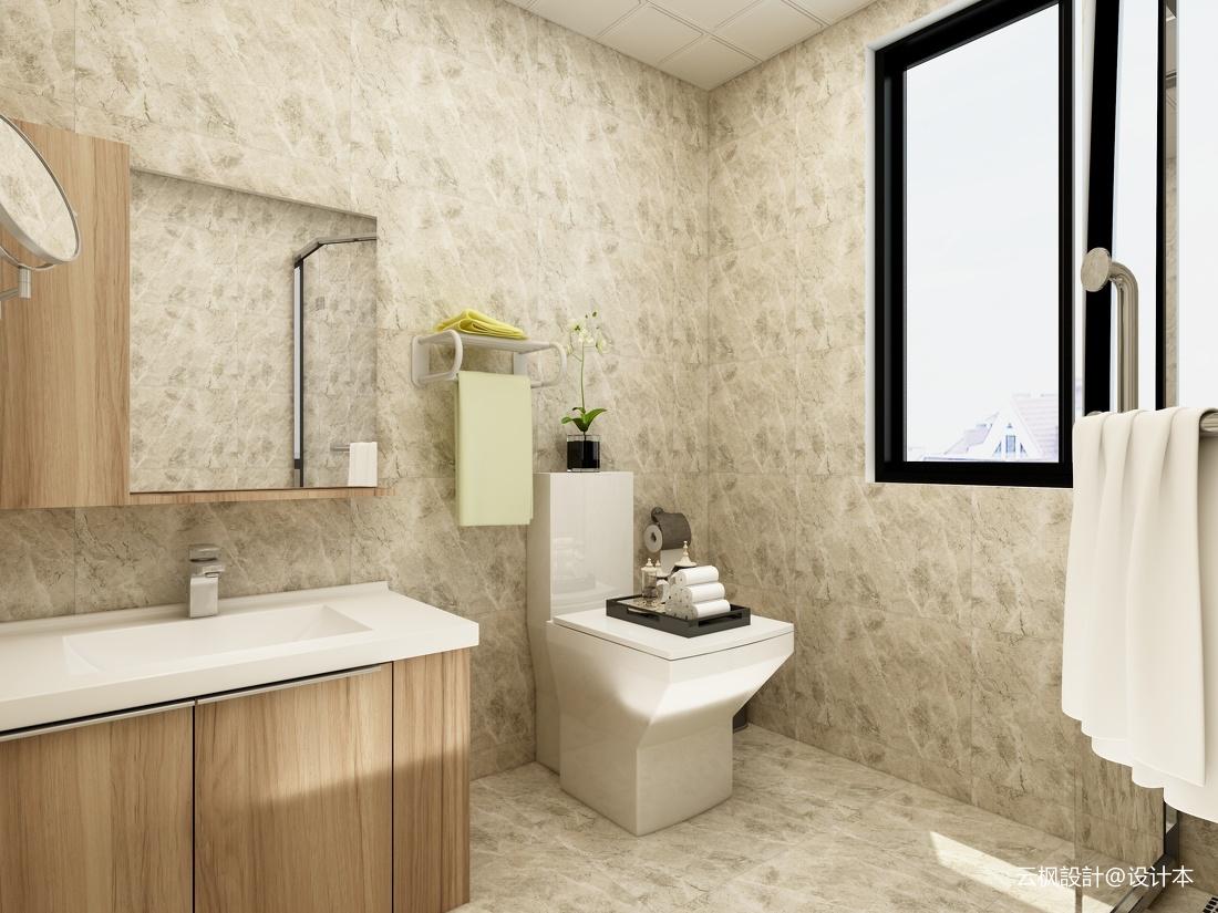 精选面积71平小户型卫生间现代装修实景图
