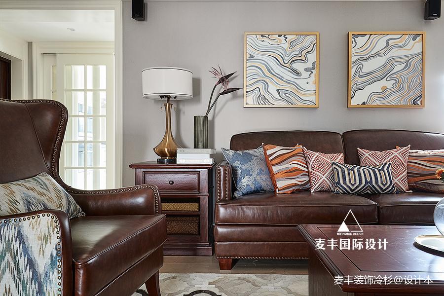 精致145平美式四居客厅装修案例