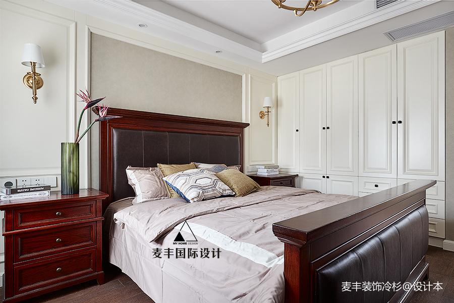 浪漫91平美式四居卧室美图