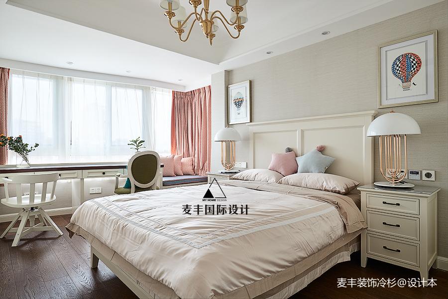 典雅135平美式四居卧室装修装饰图