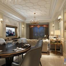 2018精选125平米四居客厅美式装修图片大全