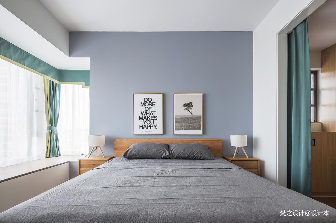 明亮87平北欧三居卧室设计效果图