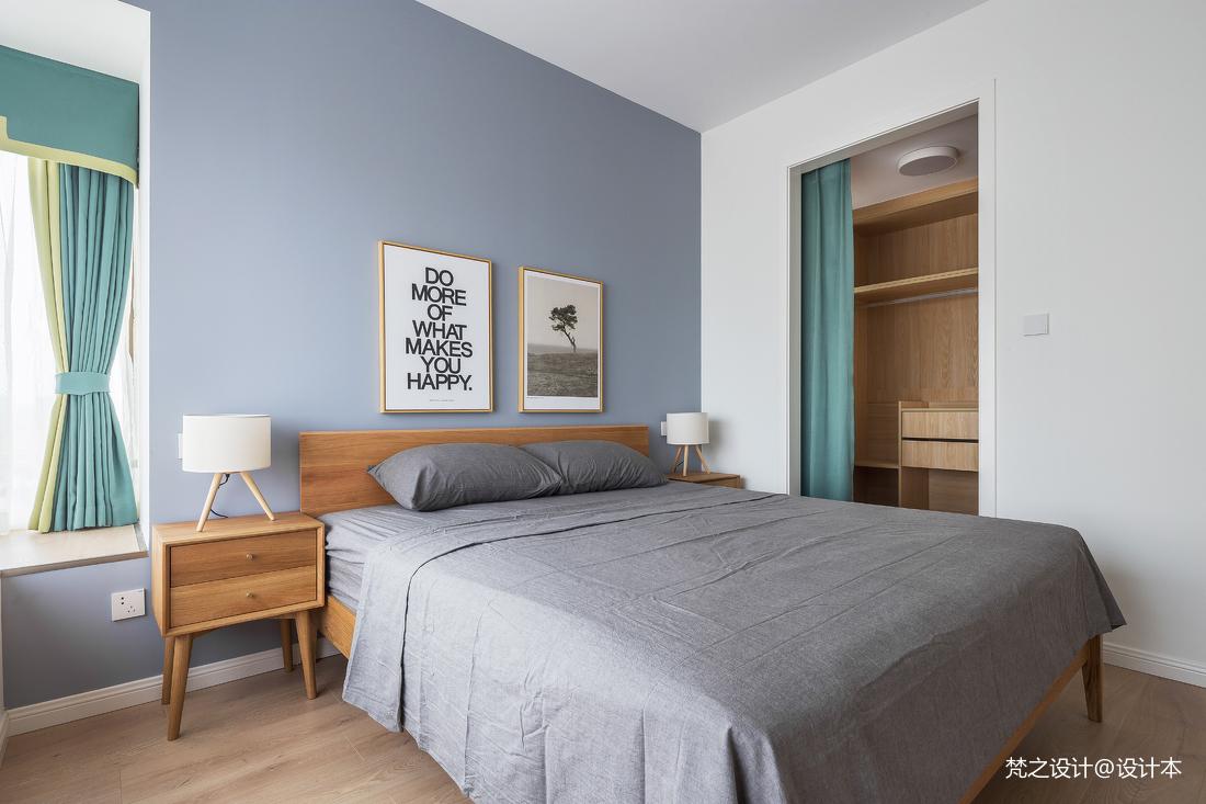 2019128平北欧三居卧室装修案例