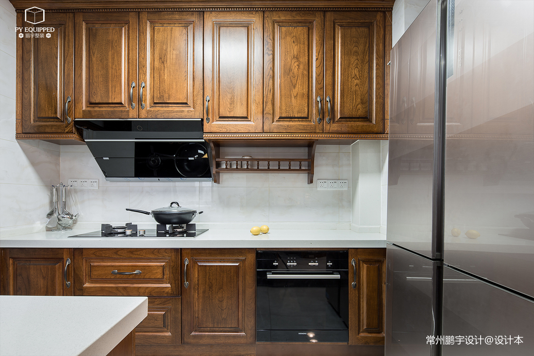 温馨46平美式复式厨房设计案例